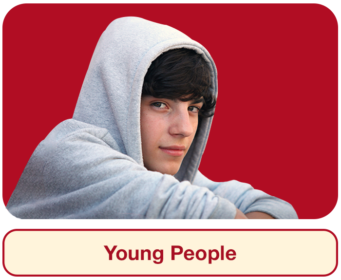 Young People Section Hover Image