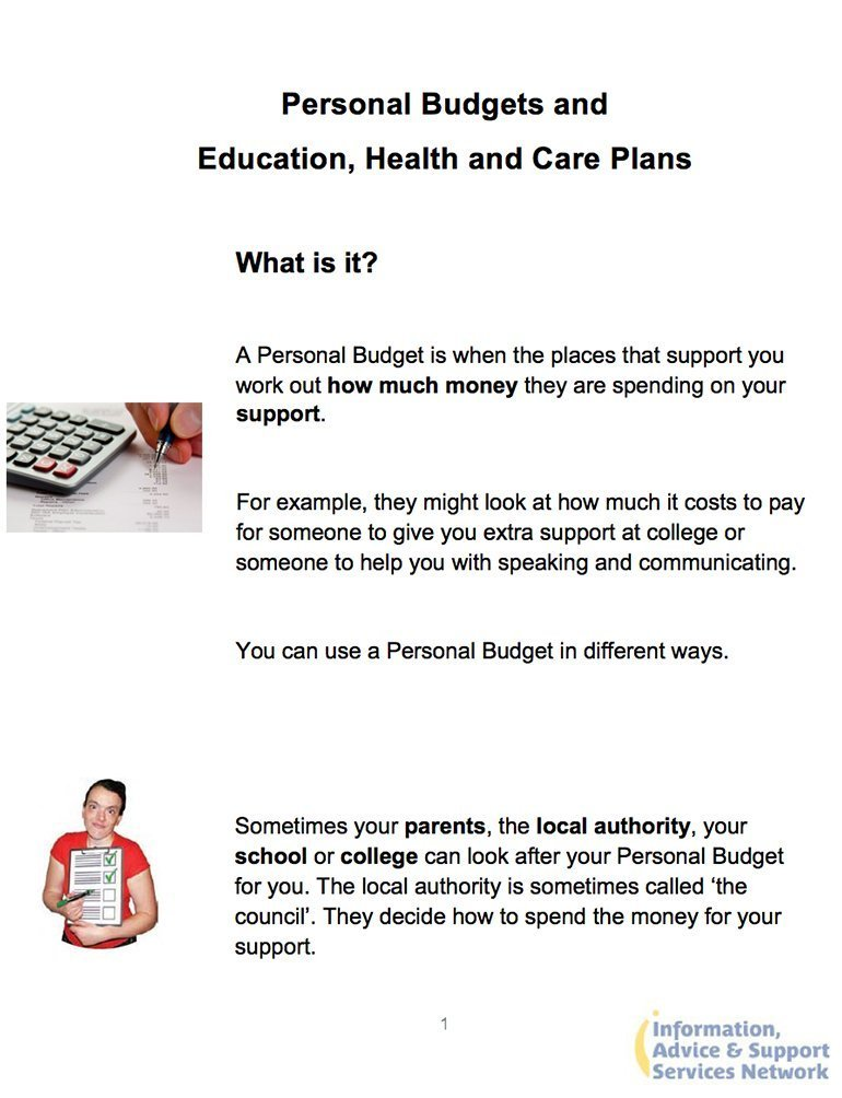 Personal Budgets Document Image